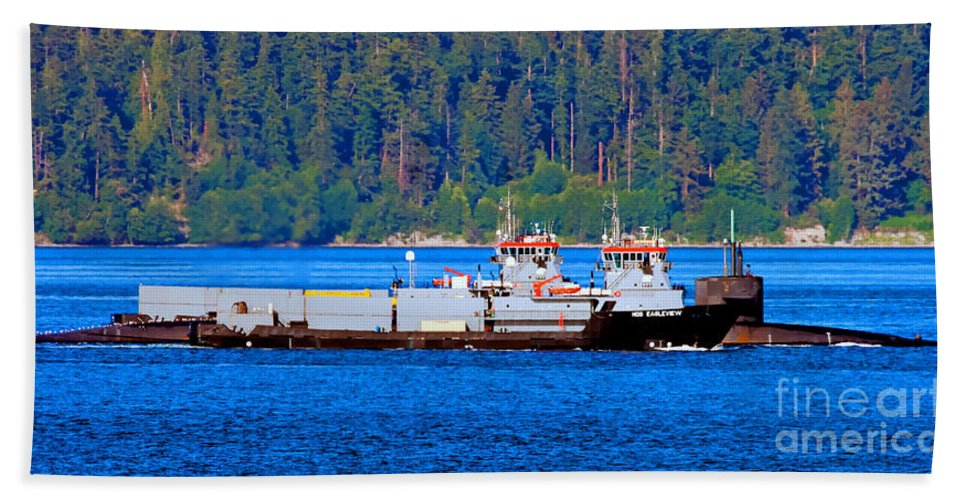 Ships Beach Towel featuring the photograph Navy Cover by Tap On Photo