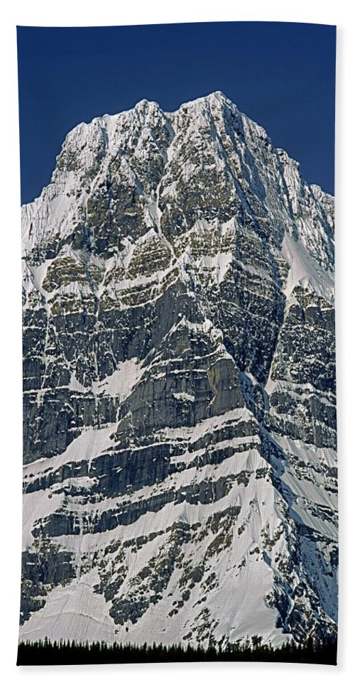 Howse Peak Beach Towel featuring the photograph 1m3645-ne Face Howse Peak-v by Ed Cooper Photography