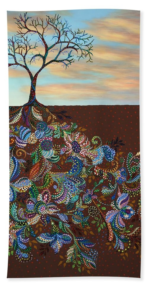 Tree Beach Towel featuring the painting Neither Praise Nor Disgrace by James W Johnson
