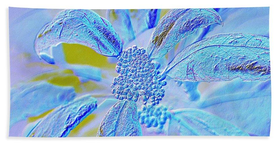 Neon Flora Beach Towel featuring the digital art Neon Flora by Maria Urso
