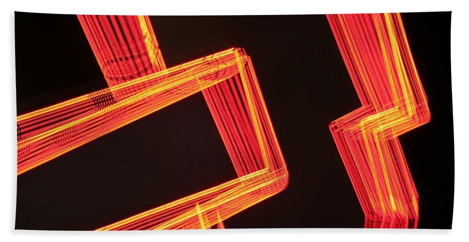 Neon Beach Towel featuring the photograph Neon Maze by Ric Bascobert