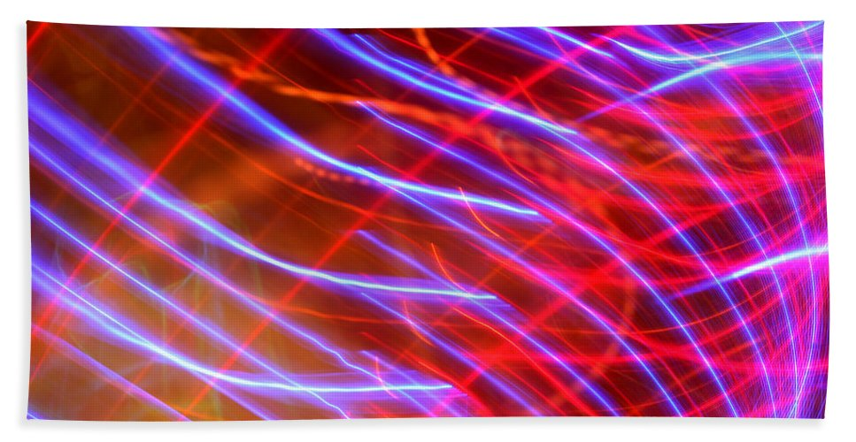 Stripes Beach Towel featuring the photograph Neon Swell by Ric Bascobert