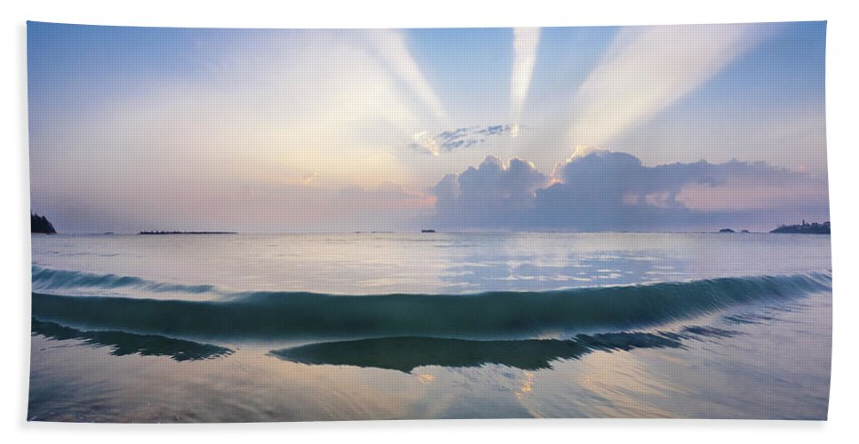 Atmospherics Beach Towel featuring the photograph Neptune Step. by Sean Davey