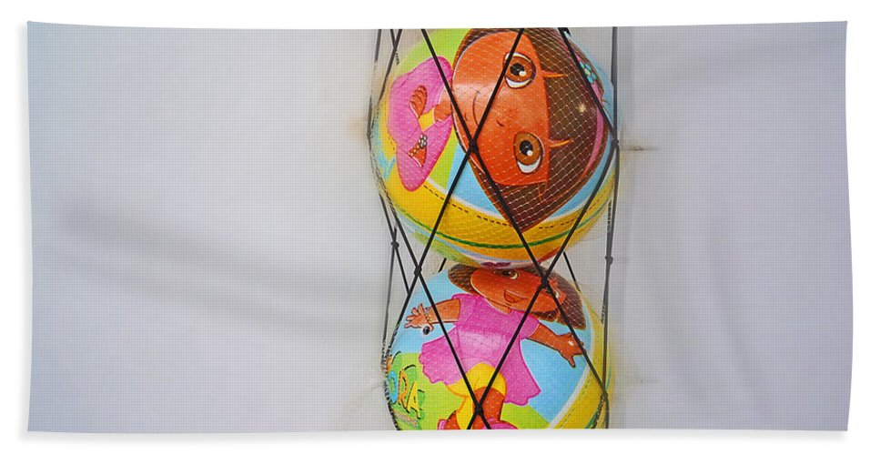 Net Ball Beach Towel featuring the painting Net Balls by Charles Stuart
