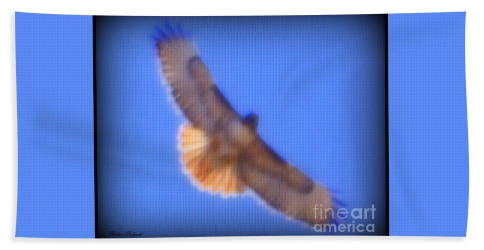 Acrylic Prints Beach Towel featuring the photograph Nevada Raptor by Bobbee Rickard