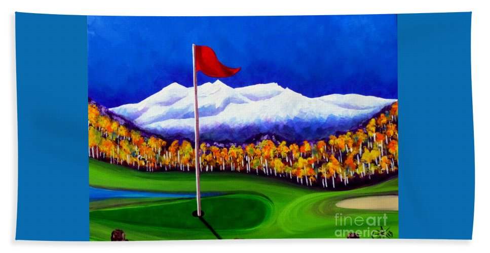Golf Beach Towel featuring the painting Never Enough by Jackie Carpenter