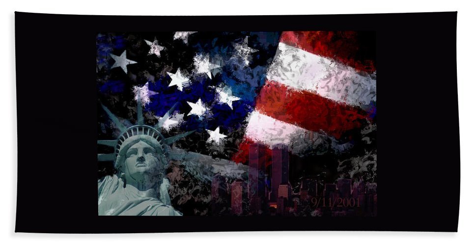 911 Beach Towel featuring the photograph Never Forget by Andrew Giovinazzo
