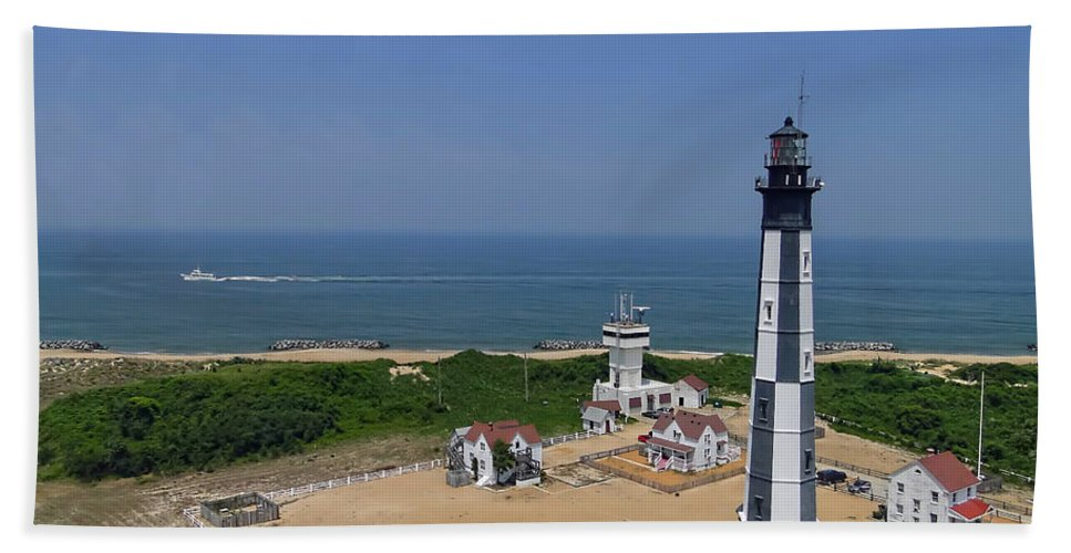 Virginia Beach Towel featuring the photograph New Cape Henry Lighthouse by Alan Hutchins