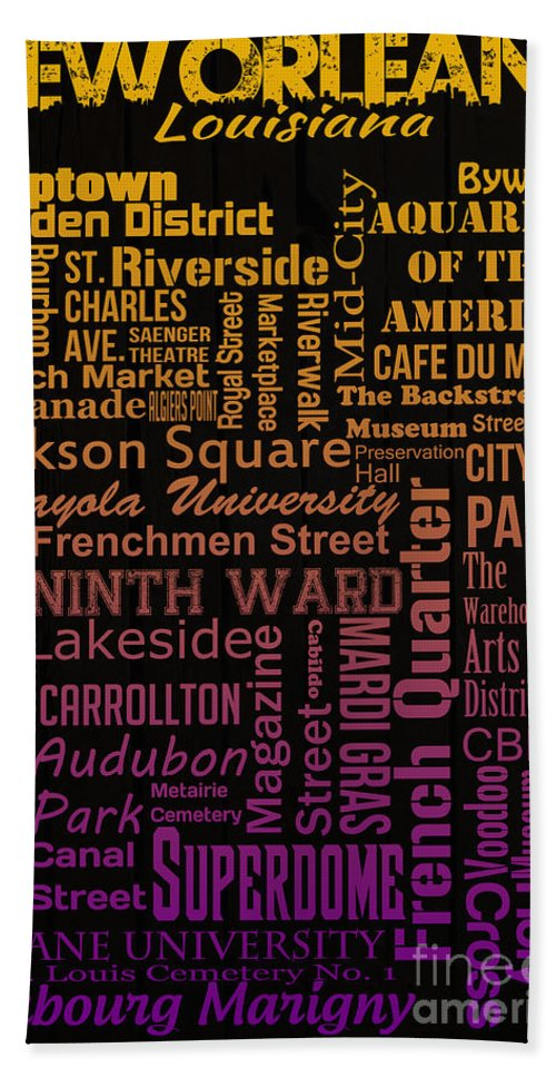 New Orleans Beach Towel featuring the digital art New Orleans by Ryan Burton