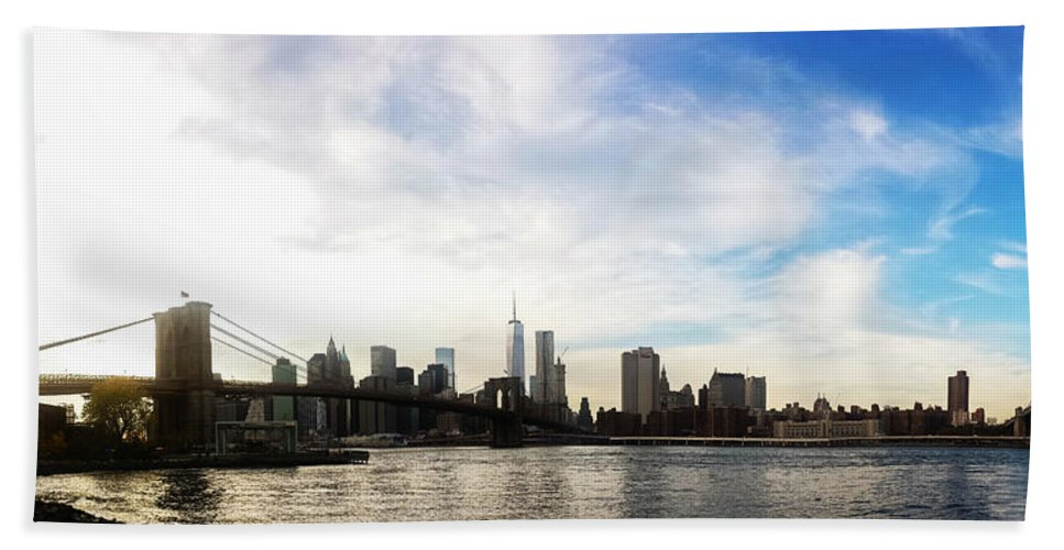 New York Beach Towel featuring the photograph New York City Bridges by Nicklas Gustafsson