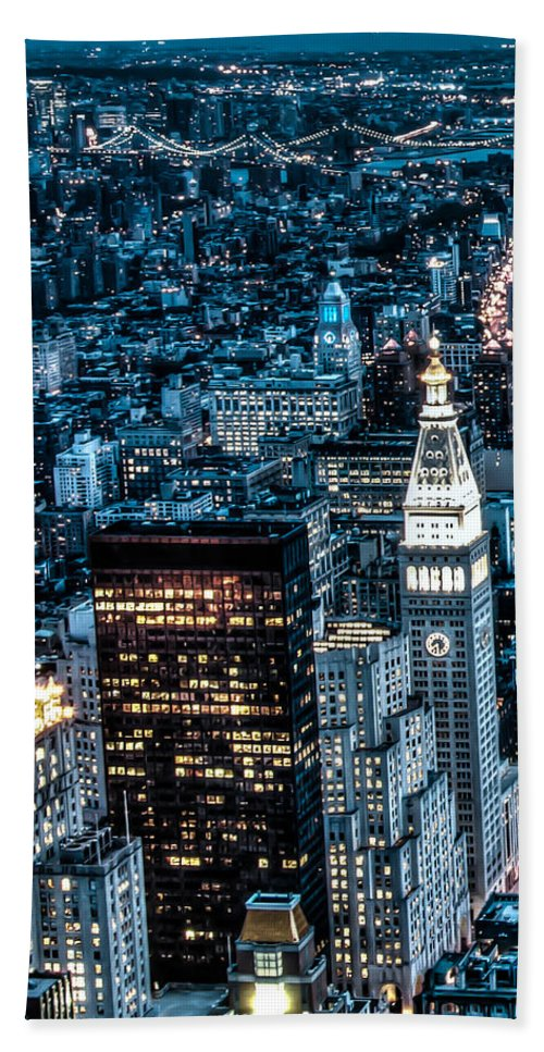 City Beach Towel featuring the photograph New York City Triptych Part 1 by Alex Hiemstra