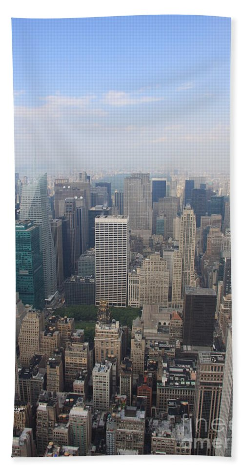 New York Skyline Beach Towel featuring the photograph New York From Above by Christiane Schulze Art And Photography