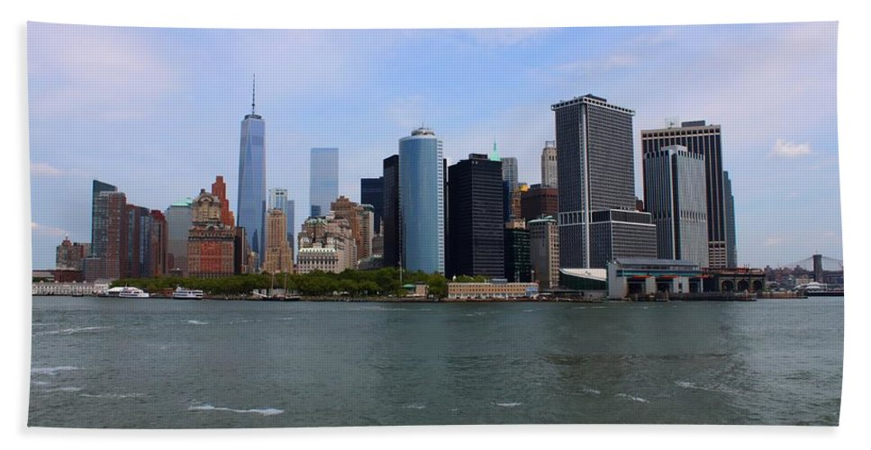 New York Beach Towel featuring the photograph New York Strong by Debra Forand