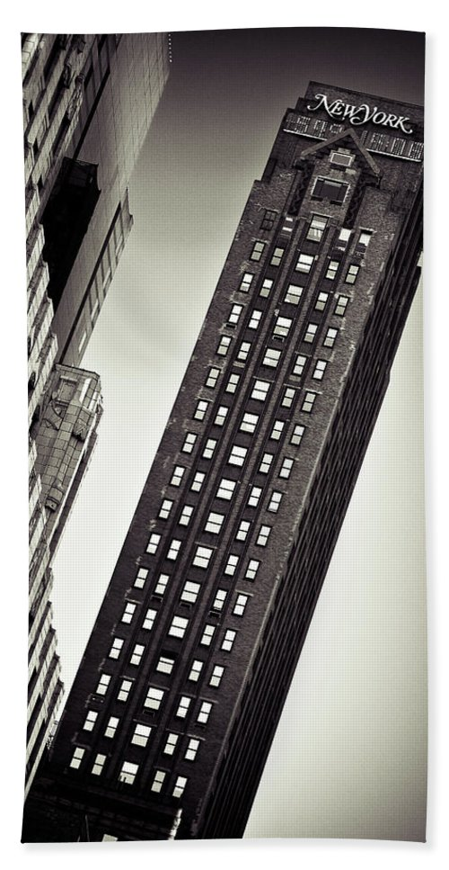 New York Beach Towel featuring the photograph New York Time by Dave Bowman
