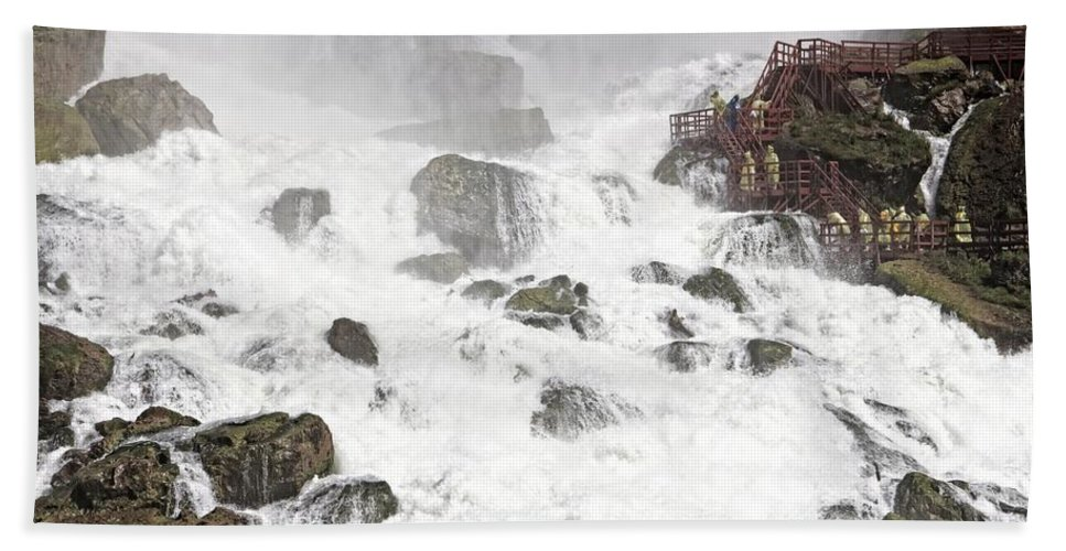 Niagara Falls Beach Towel featuring the photograph Niagara Falls Overlook Two by Alice Gipson