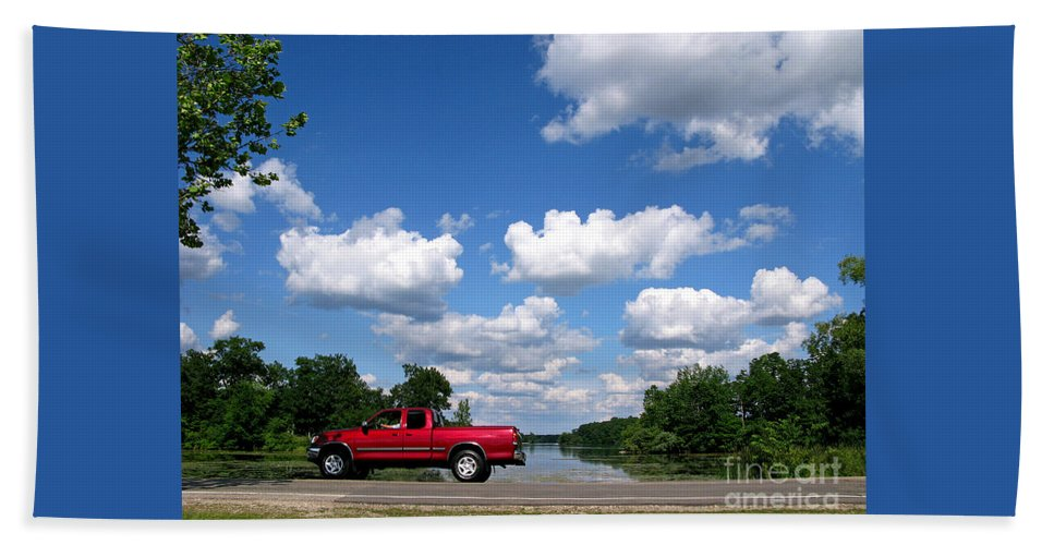 Truck Beach Towel featuring the photograph Nice Day For A Drive by Ann Horn