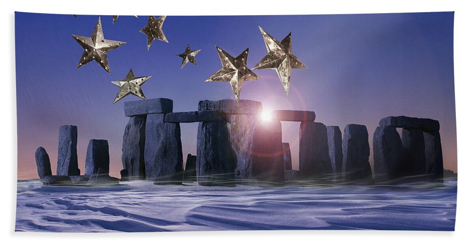 Great Britain Beach Towel featuring the photograph Night Cometh by Edmund Nagele
