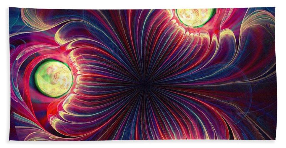 Computer Beach Towel featuring the digital art Night Flower by Anastasiya Malakhova