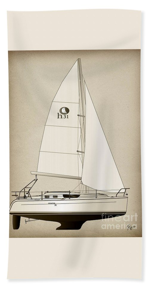 Regina Gallant Beach Towel featuring the drawing Night Hunter by Regina Marie Gallant
