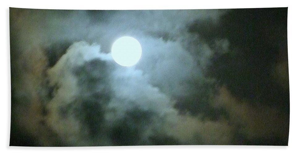 Moon Beach Towel featuring the photograph Night Of The Moon by Mary Deal