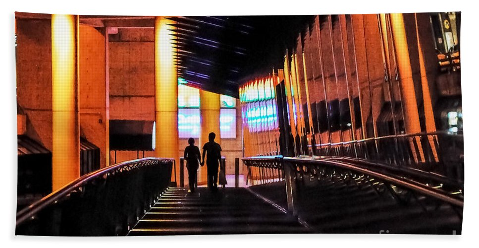 Melbourne Beach Towel featuring the photograph Night Walk by Ray Warren