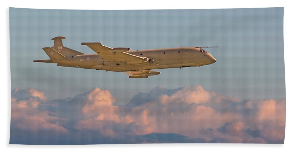 Aircraft Beach Towel featuring the photograph Nimrod - Maritime Patrol Aircraft by Pat Speirs