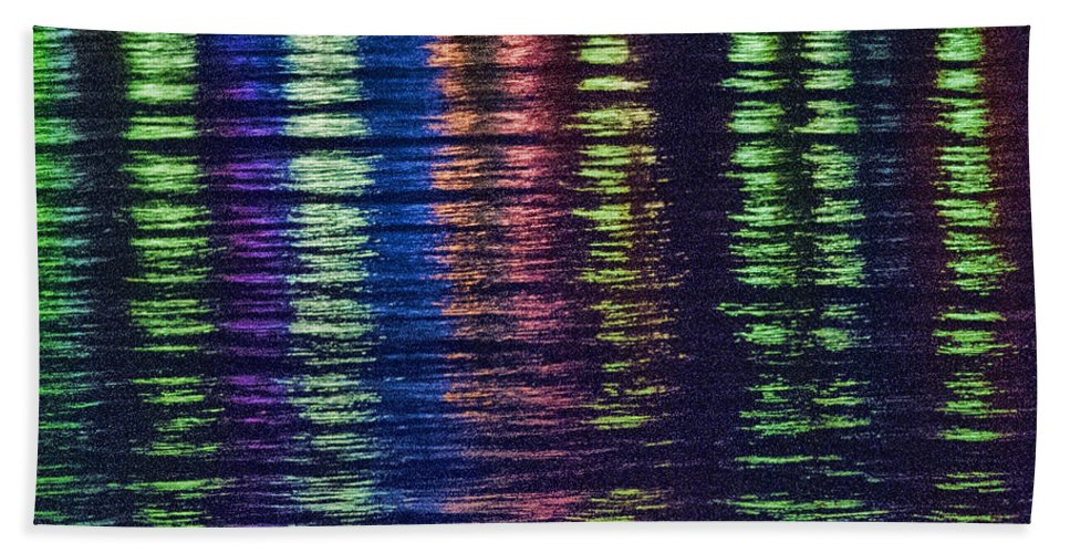 Nite Lites Beach Towel featuring the photograph Nite Lites by Phyllis Taylor