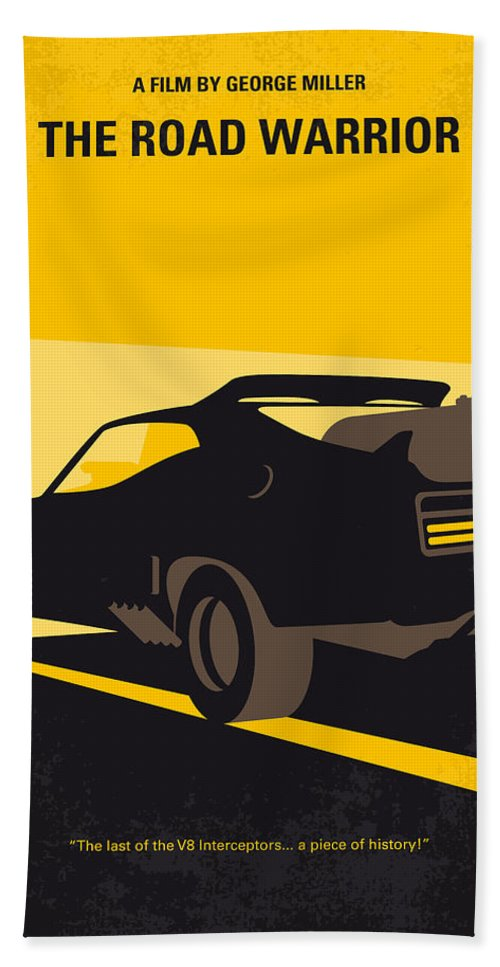 Road Warrior Beach Towel featuring the digital art No051 My Mad Max 2 Road Warrior Minimal Movie Poster by Chungkong Art