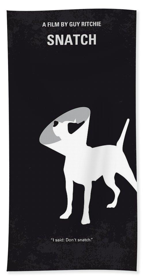 Snatch Beach Towel featuring the digital art No079 My Snatch minimal movie poster by Chungkong Art