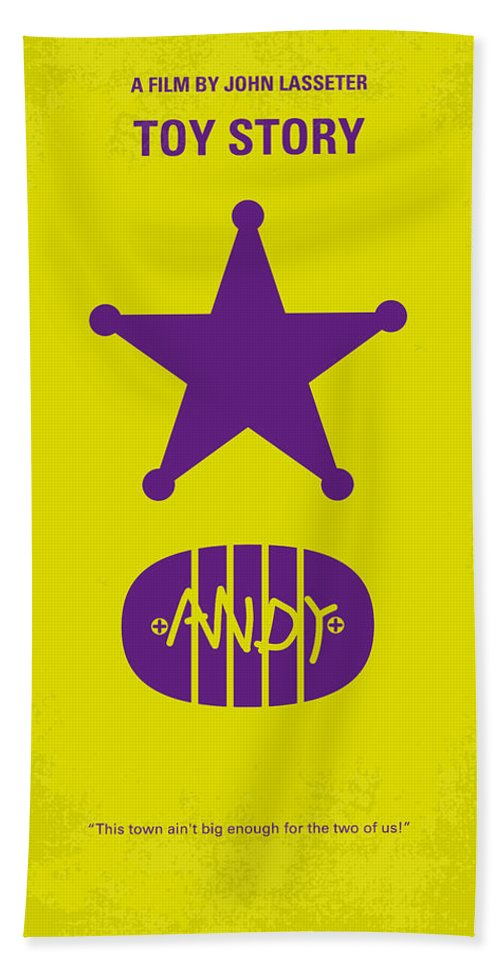 Toy Beach Towel featuring the digital art No190 My Toy Story minimal movie poster by Chungkong Art