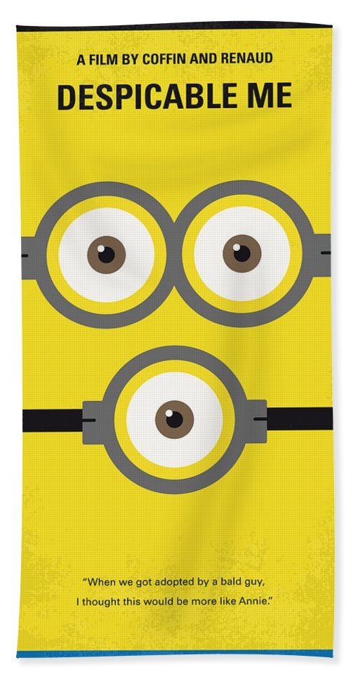 Despicable Beach Towel featuring the digital art No213 My Despicable Me Minimal Movie Poster by Chungkong Art