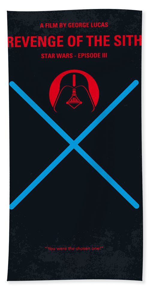 No225 My Star Wars Episode Iii Revenge Of The Sith Minimal Movie Poster Beach Towel For Sale By Chungkong Art
