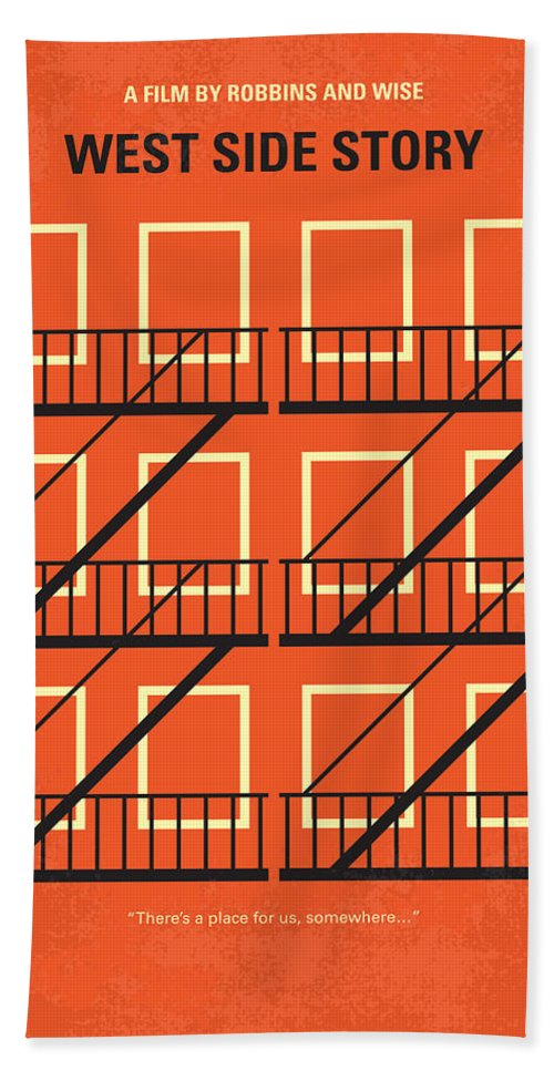 West Beach Towel featuring the digital art No387 My West Side Story Minimal Movie Poster by Chungkong Art