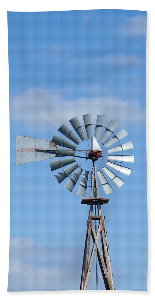 Aeromotor Beach Towel featuring the photograph Nocona Windmill by Gale Cochran-Smith