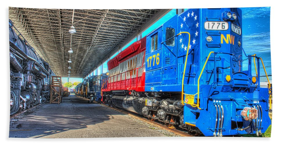 Historic Beach Towel featuring the photograph Norfolk And Western 1776 by Greg Hager