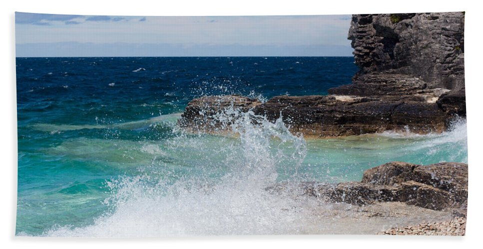 Wave Beach Towel featuring the photograph North East Winds by Barbara McMahon