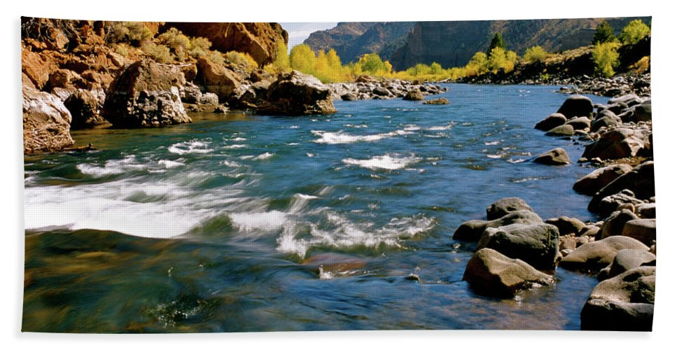 Wyoming Beach Towel featuring the photograph North Fork Of The Shoshone River by Ed Riche