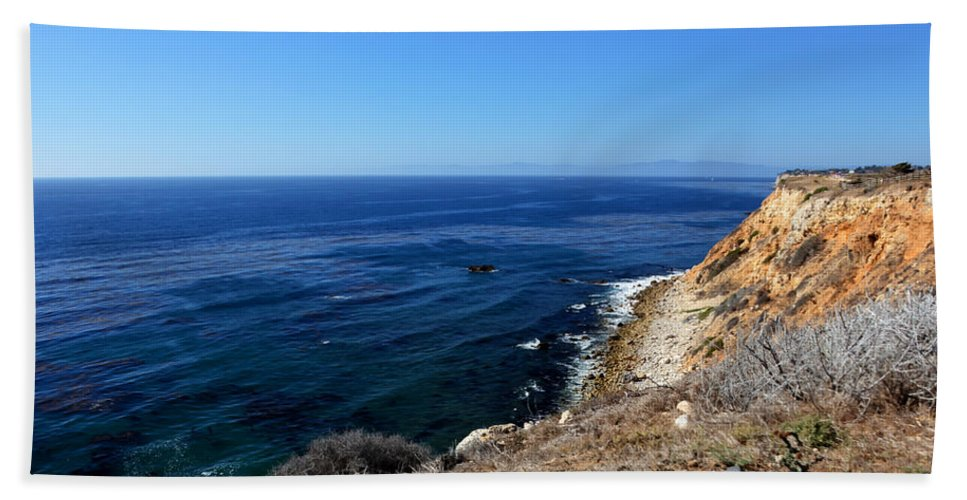 Beach Towel featuring the photograph North From Palos Verdes by Heidi Smith