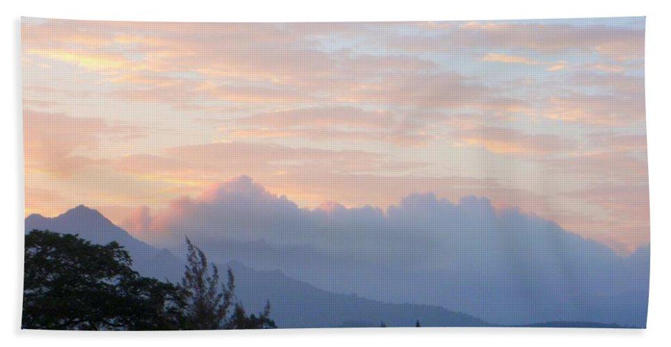 Kauai Beach Towel featuring the photograph North Shore Haze by Mary Deal