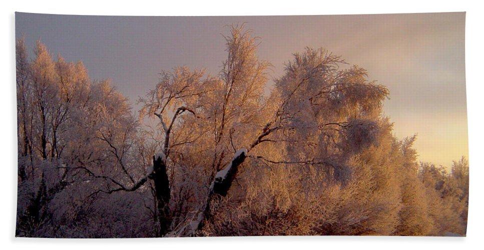 Alaska Beach Towel featuring the photograph Northern Light by Jeremy Rhoades