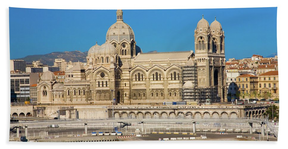 Photography Beach Towel featuring the photograph Notre Dame De La Garde, Marseille by Panoramic Images