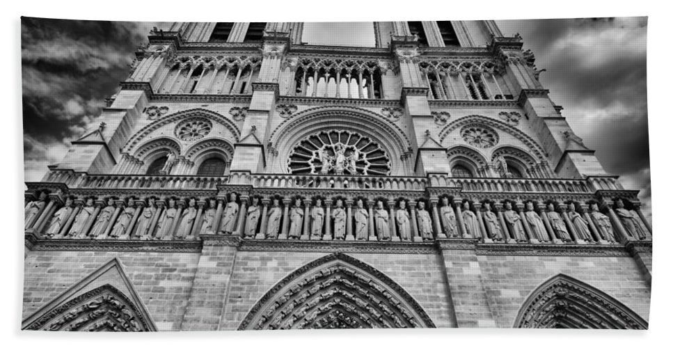 Architecture Beach Towel featuring the photograph Notre Dame by Raul Rodriguez