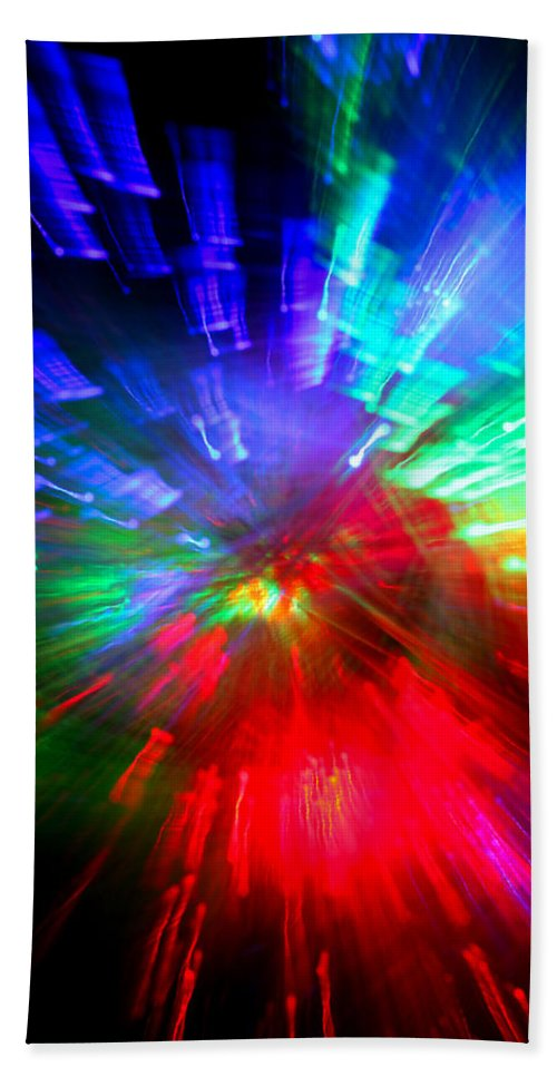 Abstract Beach Towel featuring the photograph Nova Baby by Dazzle Zazz