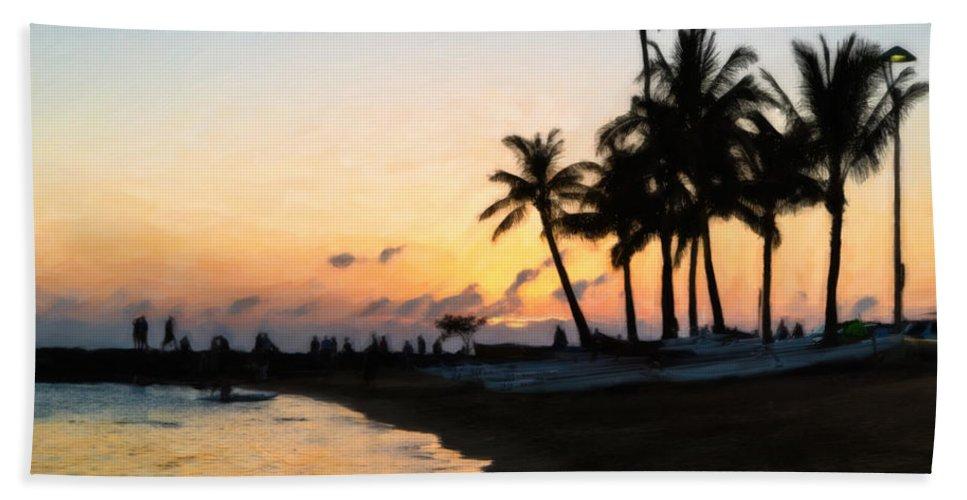Sunset Beach Towel featuring the photograph Oahu Sunset by Jon Burch Photography