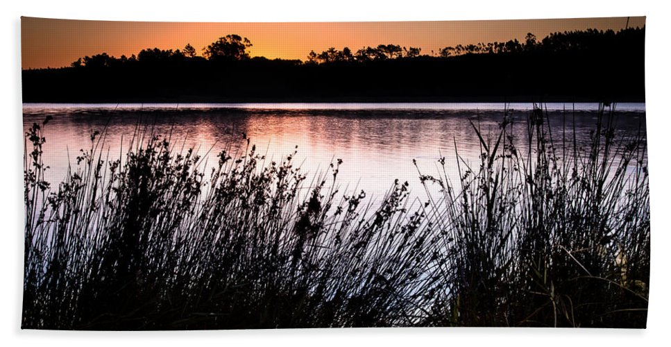 Obidos Beach Towel featuring the photograph Obidos Lagoon Sunrise by Edgar Laureano