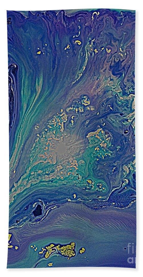 Abstract Paintings Liquid Paintings Flow Paintings Movement Paintings Space Paintings Ocean Paintings Blue Paintings Abstract Canvas Prints Liquid Canvas Prints Flow Canvas Prints Movement Canvas Prints Space Canvas Prints Ocean Canvas Prints Blue Canvas Prints Beach Towel featuring the painting Ocean Flow Energy by Maya B