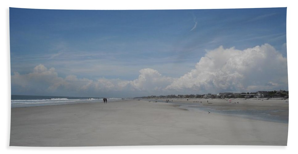 Fripp Island Beach Towel featuring the photograph Ocean Stroll by Michelle Welles