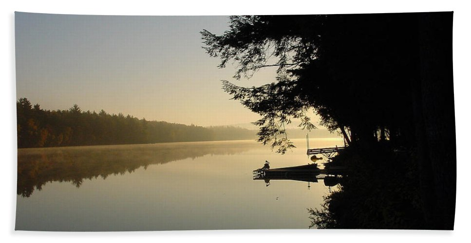 Maine Beach Towel featuring the photograph October Morning by Laura Mace Rand