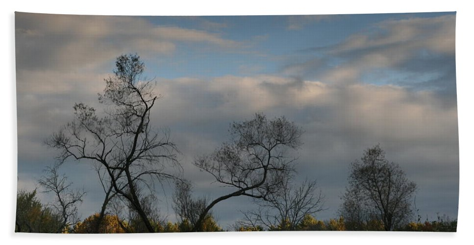 October Beach Towel featuring the photograph October River Reflections by Neal Eslinger