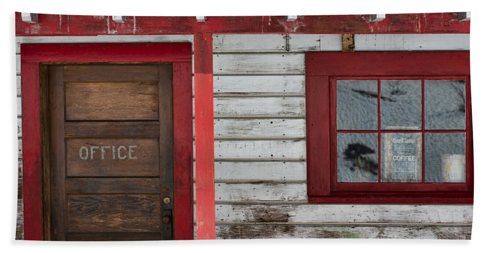 Door Beach Towel featuring the photograph Office Door by David Arment